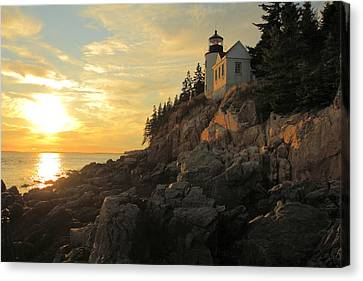 Bass Harbor Head Lighthouse Maine Usa Canvas Print