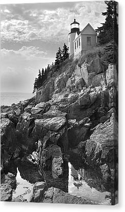 Rocky Maine Coast Canvas Print - Bass Harbor Light by Mike McGlothlen
