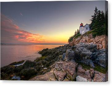 Bass Harbor Lighthouse And Coast Canvas Print by At Lands End Photography