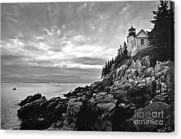 Bass Harbor Lighthouse At Dusk Canvas Print by Diane Diederich