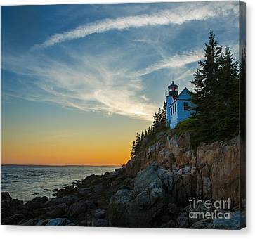 Bass Harbor Lighthouse Canvas Print by Diane Diederich