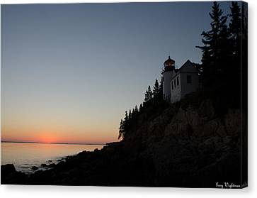 Bass Harbor Lighthouse Canvas Print by Gary Wightman
