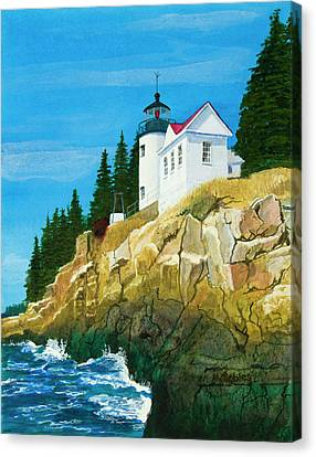 Bass Harbor Lighthouse Canvas Print by Mike Robles