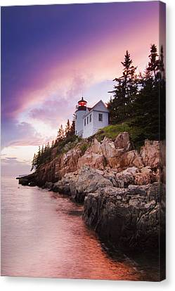 Bass Harbor Lighthouse Canvas Print by Mircea Costina Photography