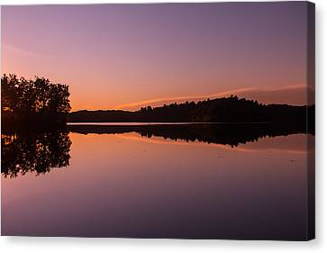 Bass Lake Glow Canvas Print