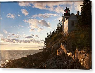 Canvas Print featuring the photograph Bass Lighthouse by Paul Miller