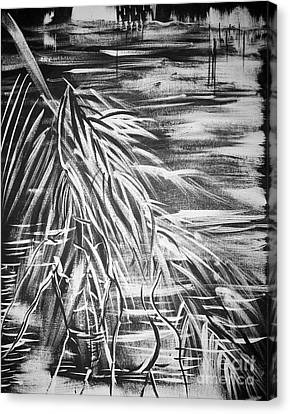 Bass On The Beach Canvas Print by Adriana Garces