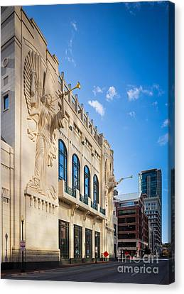 Bass Performance Hall Canvas Print by Inge Johnsson