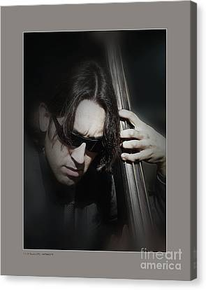 Bass Player Canvas Print by Pedro L Gili