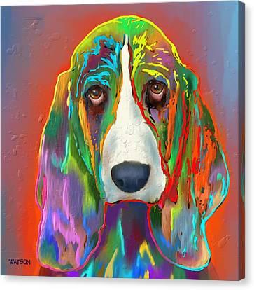 Basset Hound Canvas Print by Marlene Watson