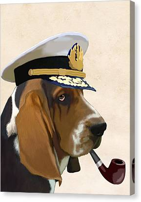 Basset Hound Seadog Canvas Print by Kelly McLaughlan