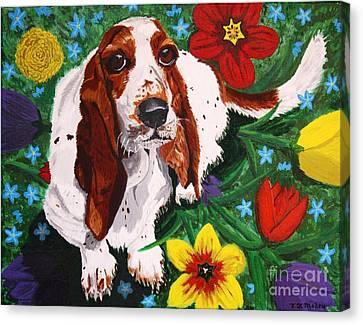 Basset Hound Canvas Print by Vicki Maheu