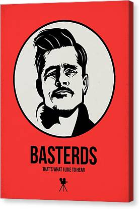 Basterds Poster 2 Canvas Print by Naxart Studio