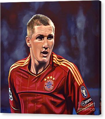 Blond Canvas Print - Bastian Schweinsteiger by Paul Meijering