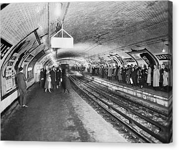 Terminal Canvas Print - bastille Subway Station by Underwood Archives