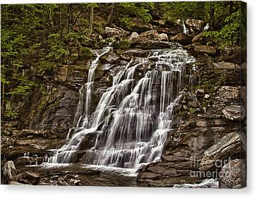 Canvas Print featuring the photograph Bastion Falls - Catskills by Vicki DeVico