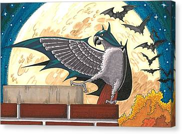 Bat Bird Canvas Print by Drisdan