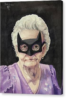 Grandma Canvas Print - Bat Gran by Kirsten Beitler