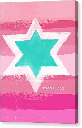 Bat Mitzvah Thank You Card Canvas Print by Linda Woods