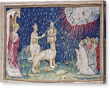Bataille, Nicolas 14th C.. He Beast Canvas Print by Everett