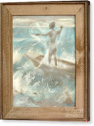 Canvas Print featuring the painting Bateau by Gertrude Palmer