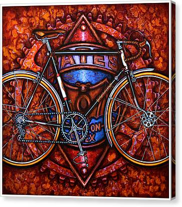 Canvas Print featuring the painting Bates Bicycle by Mark Howard Jones