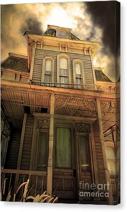 Bates Motel 5d28867 Sepia V1 Canvas Print by Wingsdomain Art and Photography