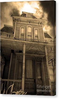 Bates Motel 5d28867 Sepia V2 Canvas Print by Wingsdomain Art and Photography