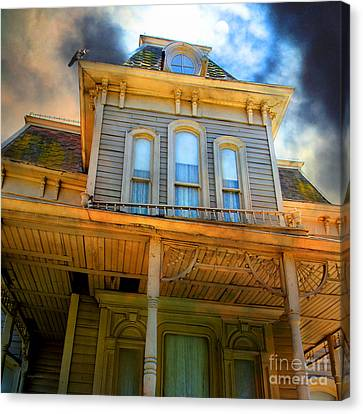 Bates Motel 5d28867 Square Canvas Print by Wingsdomain Art and Photography