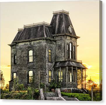 Bates Motel Haunted House Canvas Print by Paul W Sharpe Aka Wizard of Wonders