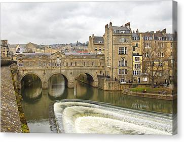 Bath England Spillway Canvas Print by Mike McGlothlen