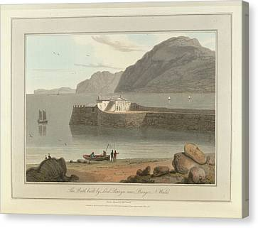 Bath House Bangor In North Wales Canvas Print by British Library