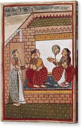 Bath Of An Indian Princess Canvas Print
