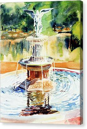 Bathesda Fountain Canvas Print