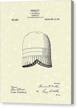 Cap Canvas Print - Bathing Cap 1915 Patent Art by Prior Art Design