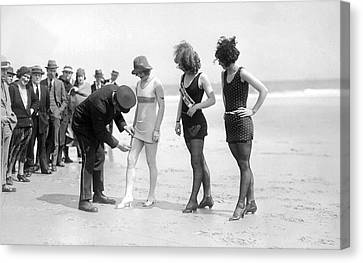 Bathing Suit Fashion Police Canvas Print by Underwood Archives