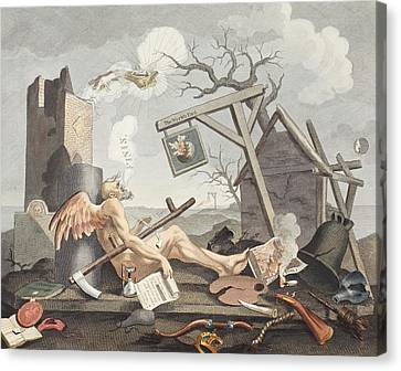 Bathos, Manner Of Sinking, In Sublime Canvas Print by William Hogarth