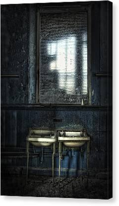 Bathroom Blues Canvas Print