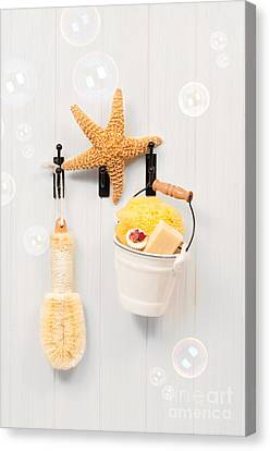 Bathroom Door Canvas Print by Amanda Elwell
