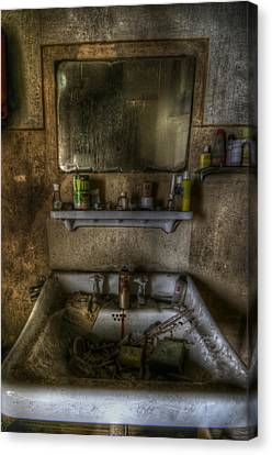 Bathroom Sink Canvas Print by Nathan Wright