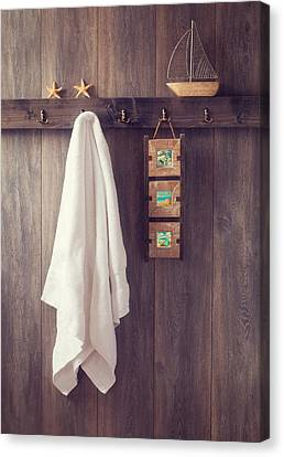 Toy Boat Canvas Print - Bathroom Wall by Amanda Elwell