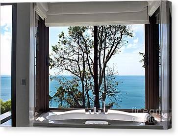 Bathroom With A View Canvas Print