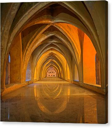 Andalucia Canvas Print - Baths At Alcazar Seville by Joan Carroll