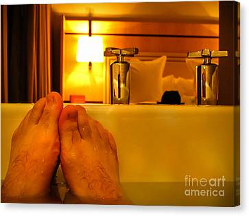 Bathtub Fun Canvas Print by Kip Krause