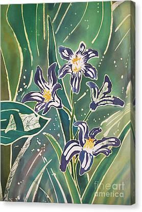 Batik Macro - Pushkinia Canvas Print