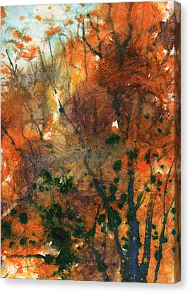 Batik Style/new England Fall-scape No.34 Canvas Print