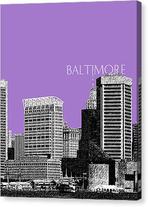 Batlimore Skyline Canvas Print by DB Artist