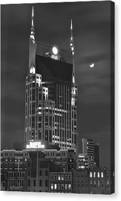 Batman Building Complete With Bat Signal Canvas Print by Frozen in Time Fine Art Photography