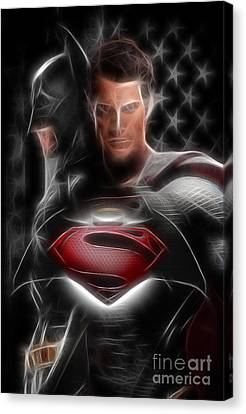 Dc Universe Canvas Print - Batman Vs Superman  by Doc Braham