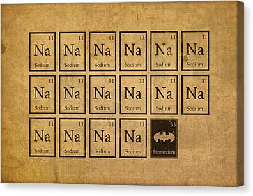 Batmantium Periodic Table Element Chart Nerd Chemistry Student Superhero Humor Canvas Print